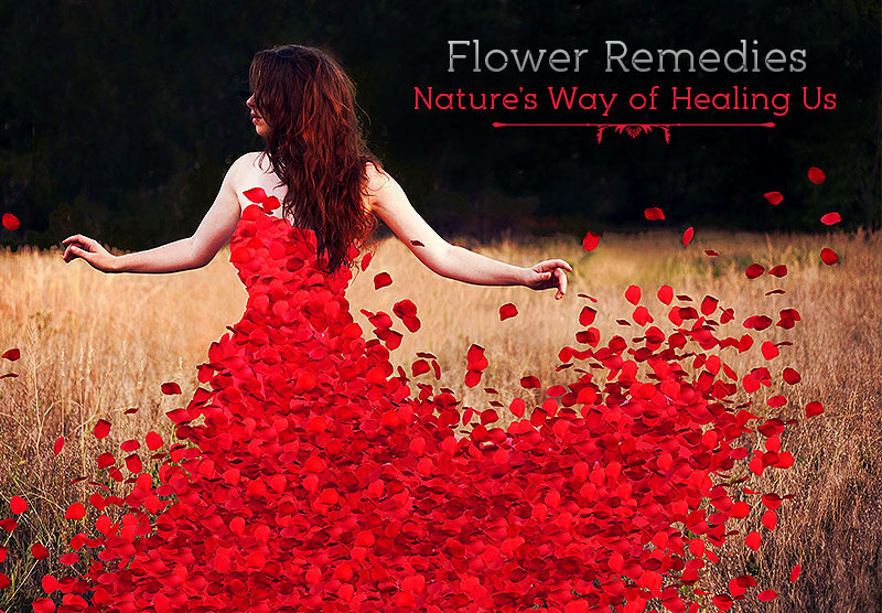 a girl feeling happy and refreshed with Red Rose Petals