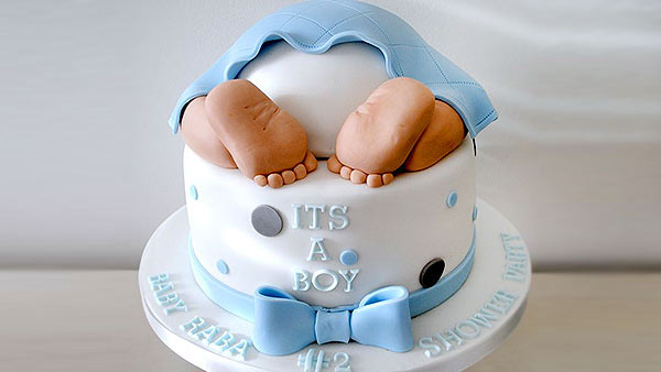 Celebration of Baby Shower with a Beautiful Cake