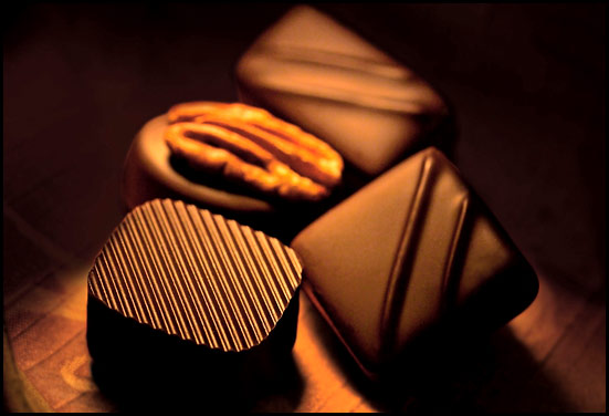 Chocolate - Brown dark chocolate pieces a perfect gift for any