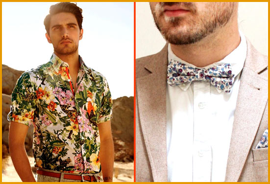 Men Casual Beach Wear in Floral prints