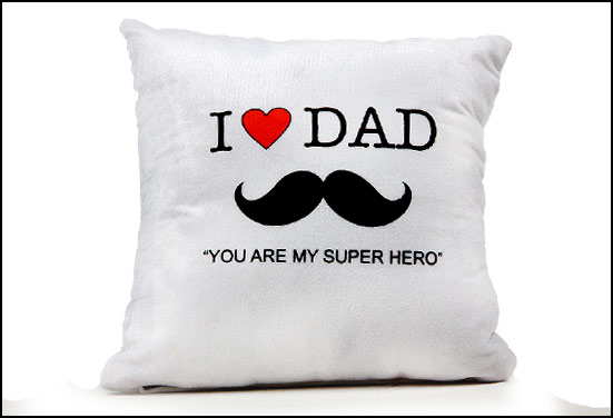Fathers special cushions as Father day gift idea
