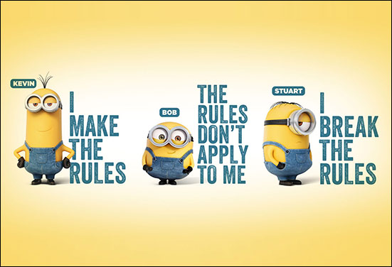 Minion representing a brutally honest friend and its all time straight forward comments