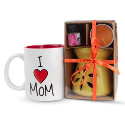 Fragrant Love - A Combo of Aromatic Diffuser & Coffee Mug as Mother's Day Gift
