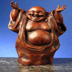Standing Laughing Budhha Feng Shui Gift - Symbolizes richness and happiness