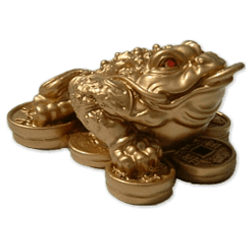 Three Legged Frog Feng Shui Gift - A mascot believed to bring good luck