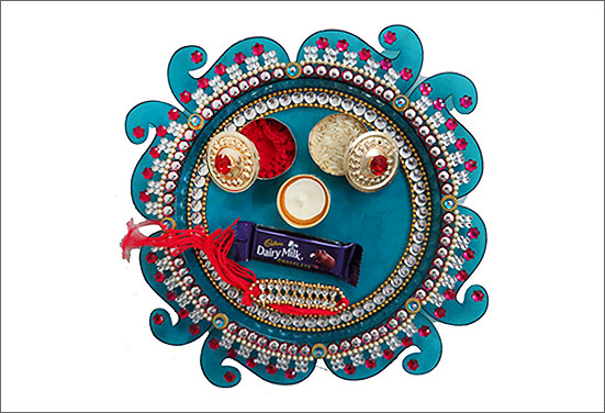Bamboo Rakhi thali decoration