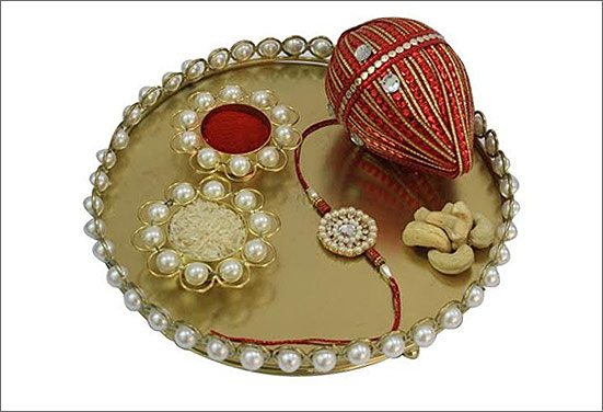Ceramic decorative Rakhi thali