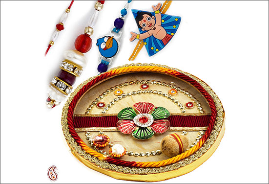 7 best ways to decorate rakhi thali for Aarti thali decoration with rice