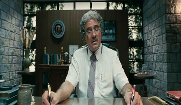 Boman Irani in 3 Idiots - A perfect example of a Over Timer Teache