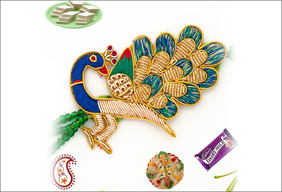 Peacock Rakhi - Much talked Rakhi of 2016
