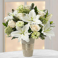 Bouquet of white Rose and Lily - Perfect flower for Zodiac sign Cancer